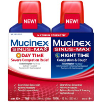 Mucinex Sinus-Max Maximum Strength Day Time & Night Time Congestion Relief, 6 oz each 2 ea [363824263229]