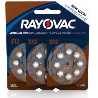 Rayovac Hearing Aid Batteries Size 312 24 ea [012800512027]