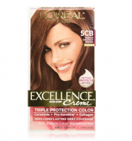 L'Oreal Paris Excellence Creme Haircolor, Medium Chestnut Brown [5CB] (Warmer) 1 ea [071249218365]