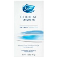 Secret Clinical Strength Anti-Perspirant Deodorant Advanced Solid, Light & Fresh Scent 1.60 oz [037000096153]