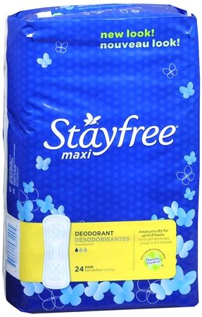 STAYFREE Maxi Pads Deodorant 24 Each [380040932005]