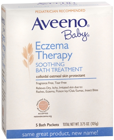 AVEENO Baby Fragrance Free Soothing Bath Treatment Packets 5 Each [381370036623]