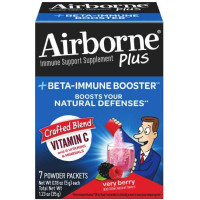 Airborne Plus Beta-Immune Booster Very Berry Powder Packets 7 ea [647865970606]
