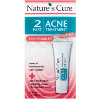 Nature's Cure 2 Part Acne Treatment for Females 60 tablets 1 oz Cream [020382100112]