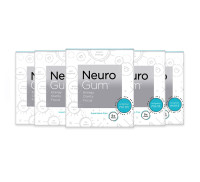 Neuro Gum Nootropic Energy Gum, Enlighten Mint Flavor, 9 Pieces Per Pack, 6 ea [869657000043]