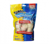 Dingo Brand Chicken & Rawhide Small Dental Bone 6 ea [615650260171]
