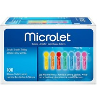 Microlet Colored Lancets 100 Each [301936586218]