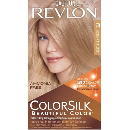 Revlon ColorSilk Hair Color 70 Medium Ash Blonde 1 Each [309978695707]