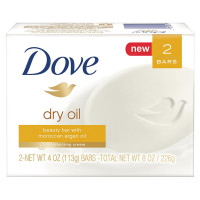 Dove Beauty Bar, 4 oz bars, Dry Oil 2 ea [011111553415]
