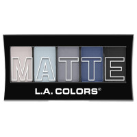 L.A. Colors 5 Color Matte Eyeshadow, Blue Denim 0.08 oz [081555744748]