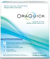 ORAQUICK In-Home HIV Test 1 ea [608337103403]