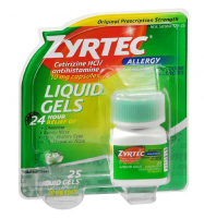 Zyrtec 24-Hour Allergy Relief, 10 mg, Liquid Gels 25 ea [300450204257]
