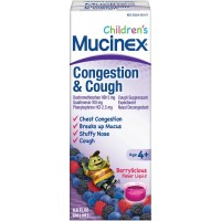Mucinex Children's Congestion and Cough Liquid, Berrylicious Flavor, 6.8 oz [363824279671]