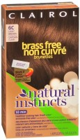 Natural Instincts Brass Free Brunettes Non-Permanent Color  - 6C Light Brown 1 Each [381519028007]