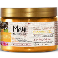 Maui Moisture Curl Quench + Coconut Oil Curl Smoothie 12 oz [022796180049]