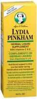 Lydia Pinkham Herbal Liquid Supplement 16 oz [038485502160]
