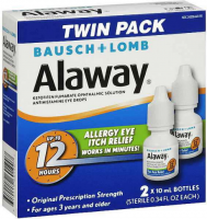 Bausch + Lomb Alaway Antihistamine Eye Drops [Twin Pack] 0.68 oz [310119601907]