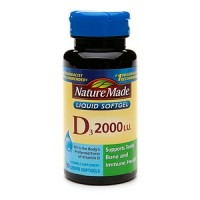 Nature Made Vitamin D 2000 IU Liquid Softgels 90 Soft Gels [031604025854]