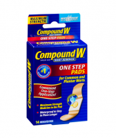 Compound W Maximum Strength, One Step Pads 14 ea [375137595102]