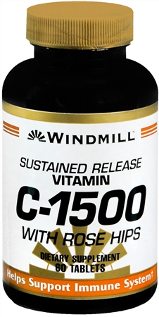 Windmill Vitamin C-1500 Tablets With Rose Hips Sustained Release 60 Tablets [035046002022]