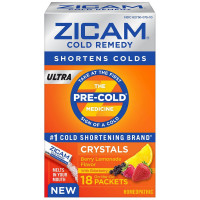 Zicam Cold Remedy Ultra Crystal On-the-Go Packets, Berry Lemonade 18 ea [732216301298]