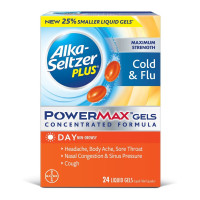 Alka Seltzer Plus PowerMax Cold & Flu Relief Liquid Gels, 24 ea [016500576808]