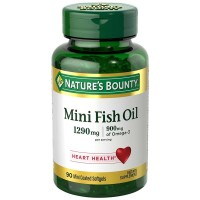 Nature's Bounty Mini Fish Oil Softgels 1290 mg 90 ea [074312186783]