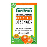 TheraBreath Mouth Wetting Lozenges, Mandarin Mint 72 ea [697029477106]