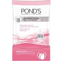 Pond's Luminous Clean Moisture Clean Towelettes With Cold Cream Technology 28 Each [305210222892]