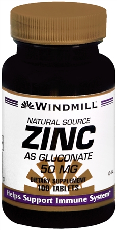 Windmill Zinc 50 mg Tablets Natural Source 100 Tablets [035046004163]