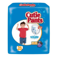 Cuties Refastenable Training Pants for Boys 2T-3T, up to 34 lbs - 26 ea  [090891202669]