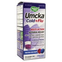 Nature's Way Umcka Cold + Flu Multi-Action Fructose-Free Syrup, Berry 4 oz [033674151488]