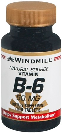 Windmill Vitamin B-6 50 mg Tablets 100 Tablets [035046001223]