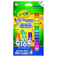 Crayola Pip-Squeaks Skinnies Washable Markers, Assorted Colors 16 ea [071662081461]