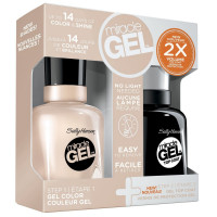 Sally Hansen Miracle Gel Nail Polish, Birthday Suit Duo Pack 1 ea [074170437652]