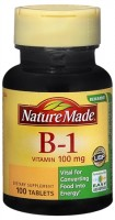 Nature Made Vitamin B-1 100 mg Tablets 100 Tablets [031604012816]