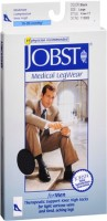 JOBST Medical LegWear For Men Knee High Socks 15-20 mmHg Black Large 1 Pair [035664150020]