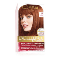 L'Oreal Paris Excellence Creme Triple Protection Hair Color, Light Auburn (Warmer) [6R] 1 ea [071249210628]