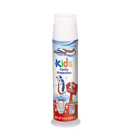 Aquafresh Kids Toothpaste, Bubble Mint 4.60 oz [053100003037]