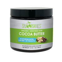 Sky Organics Moisturizing Unrefined Raw Cocoa Butter for Skin, 1 lb. [856045007333]