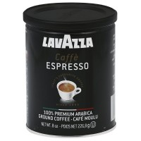 LavAzza Caffe Espresso 100% Premium Arabic Ground Coffee, Cafe Moulu Regular 8 oz [041953014508]