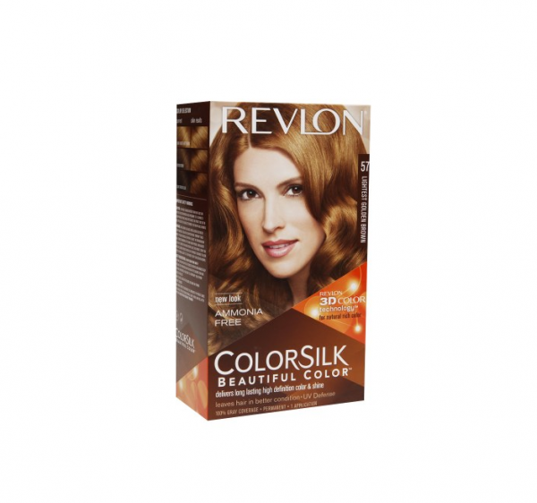 Revlon ColorSilk Beautiful Color Permanent Hair Color 57 Lightest Golden Bro