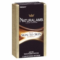 TROJAN Luxury Lubricated Natural Skin Condoms 10 ea [022600987536]