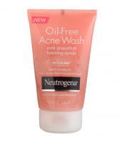 Neutrogena Oil-Free Acne Wash Foaming Scrub, Pink Grapefruit 4.2 oz [070501053607]