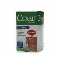 Curad Flex-Fabric Bandages, Assorted, 100 ea [080196326160]