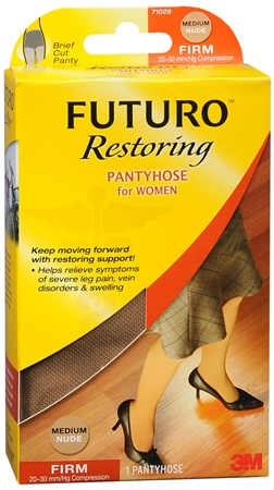 FUTURO Restoring Pantyhose Brief Cut Panty Firm Medium Nude 1 Pair [382250062831]