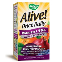 Nature's Way Alive! Once Daily Women's 50+ Ultra Potency Multivitamin & Whole Food Energizer Tablets 60 ea [033674156926]