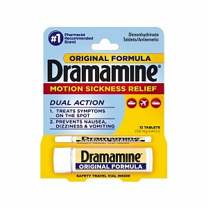 Dramamine Motion Sickness Relief, Original Formula, Tablets 12 ea [831248001975]