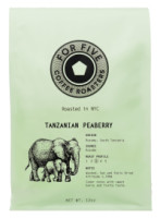 For Five Coffee Roasters Tanzania Peaberry Whole Bean 12 oz [853473008093]