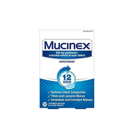 Mucinex 12 Hr Chest Congestion Expectorant, Tablets 20 ea [363824008202]